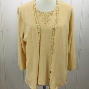 Karen Scott Yellow Sweater Set